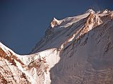 Manaslu summit plateau with the East Pinnacle on the left and the summit to the right from Bimtang